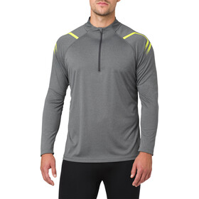 asics Icon LS 1/2 Zip Top Men Dark Grey Heather